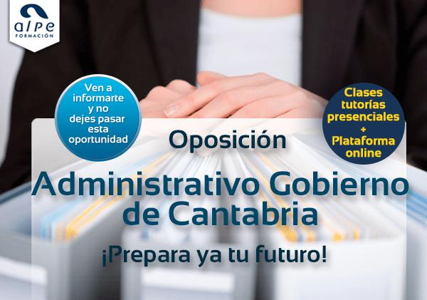 Oposición Administrativo Gobierno Cantabria - alpe formación
