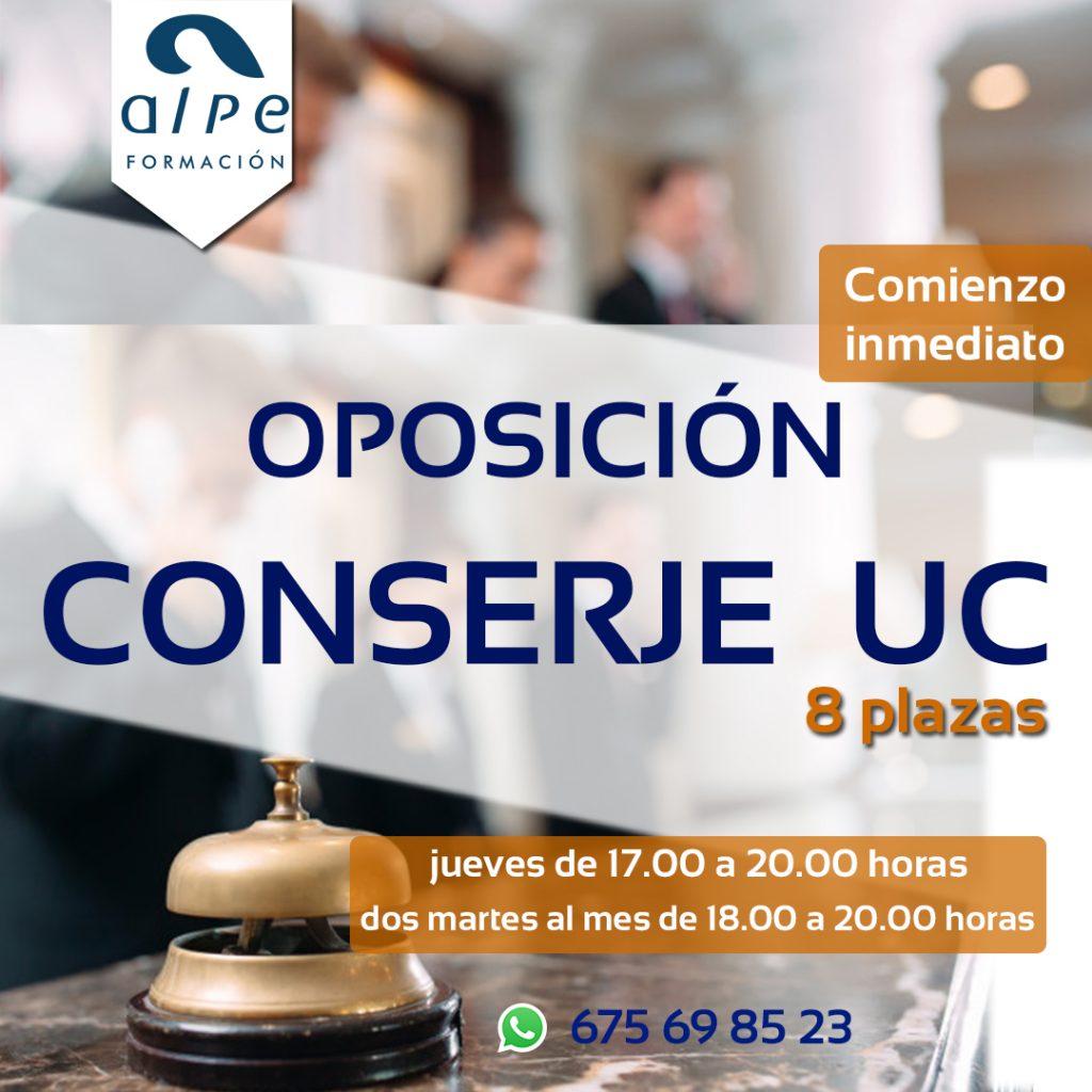 oposicón conserje universidad de Cantabria-www.alpeformacion.es