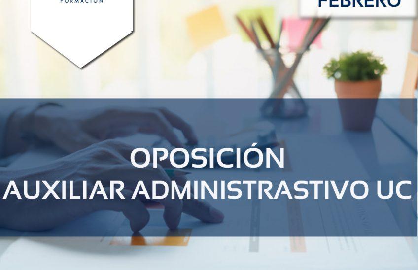 Oposición auxiliar administrativo Universidad de Cantabria - alpe formación
