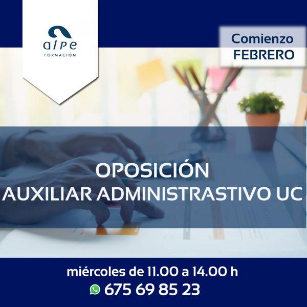 Oposición auxiliar administrativo UC