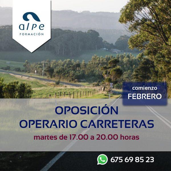 Oposición operario de carreteras