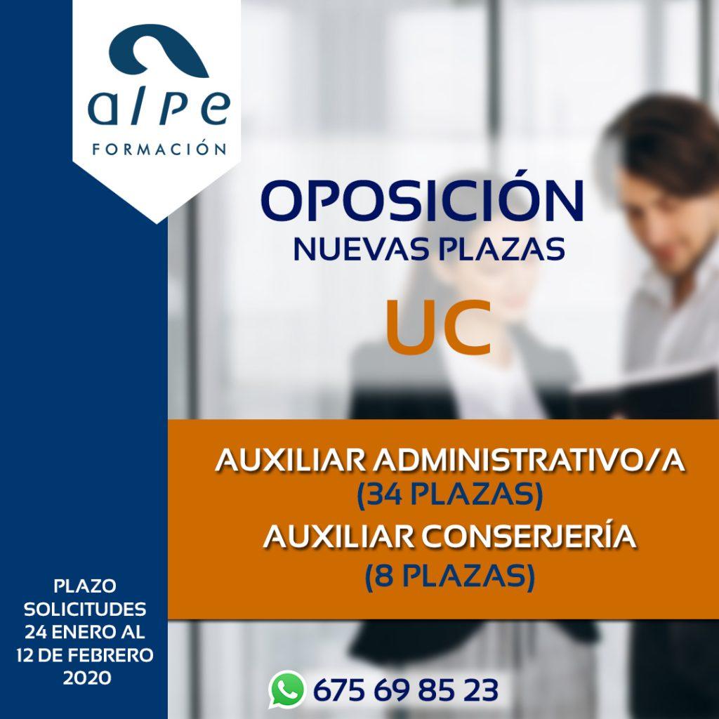 Plazas universidad de Cantabria-www.alpeformacion.es