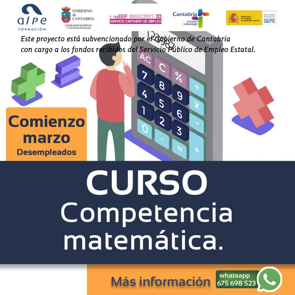 Curso competencia matemática-www.alpeformacion.es
