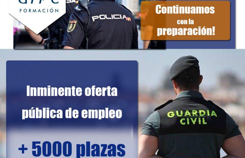 preparación para Guardia Civil y Policía Nacional
