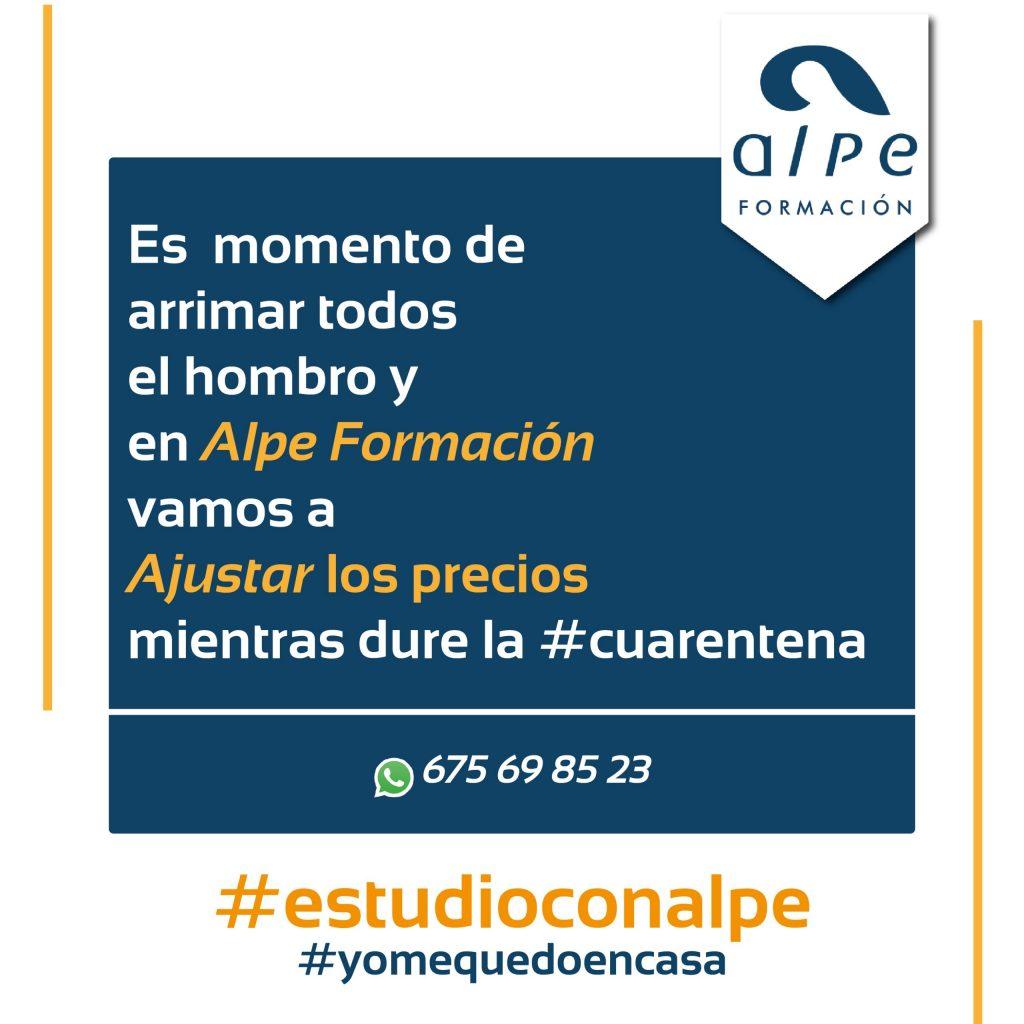 ajuste precios cuarentena-www.alpeformacion.es