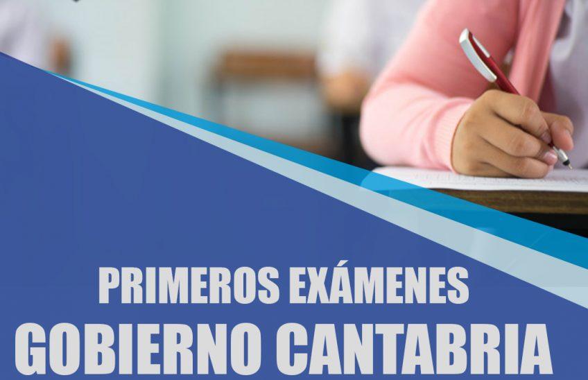 primeros exámenes del Gobierno Cantabria 2020