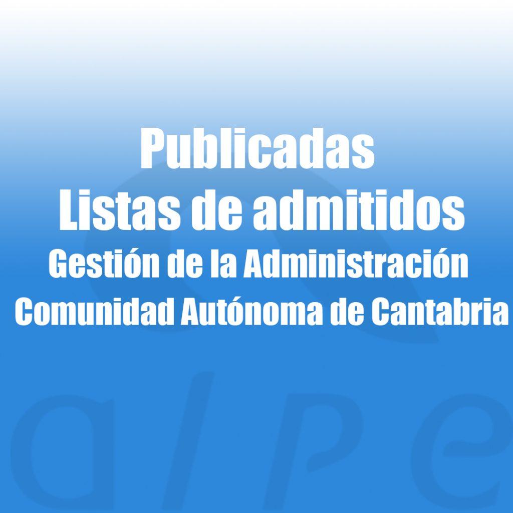 listas de admitidos gestión Gobierno Cantabria