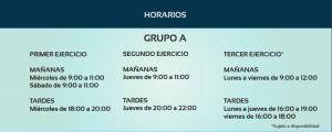 Horario grup A Auxiliar Administrativo del Gobierno de Cantabria- Alpe Formación