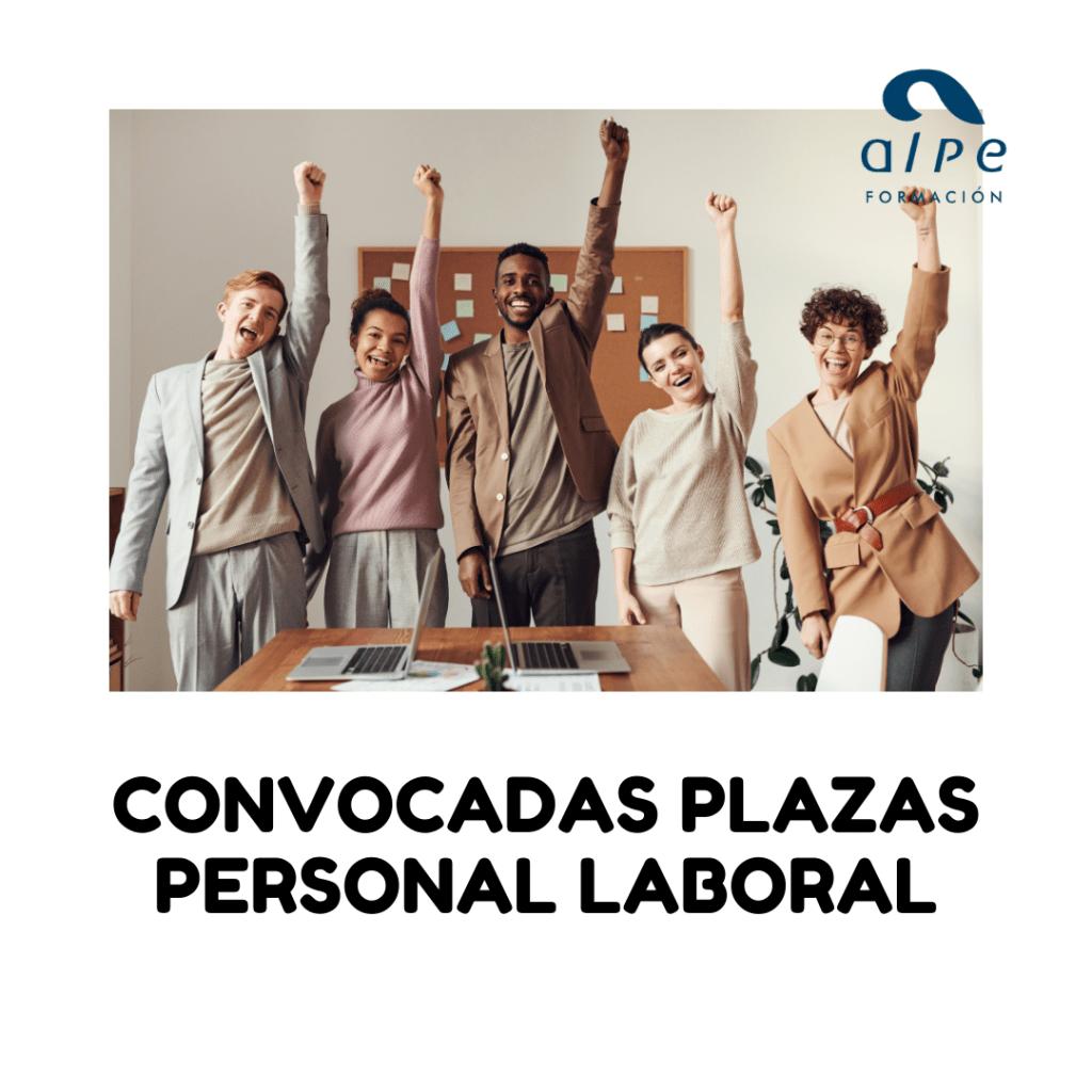 convocatorias plazas de personal laboral- alpe@alpeformacion.es
