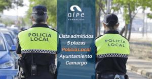 Admitidos y excluidos Policía Local Camargo