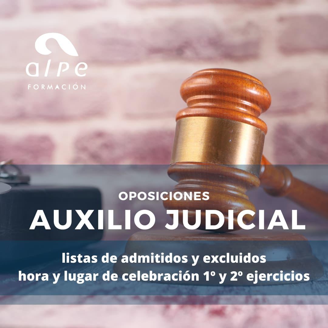 Listas y fecha Cuerpo Auxilio Judicial