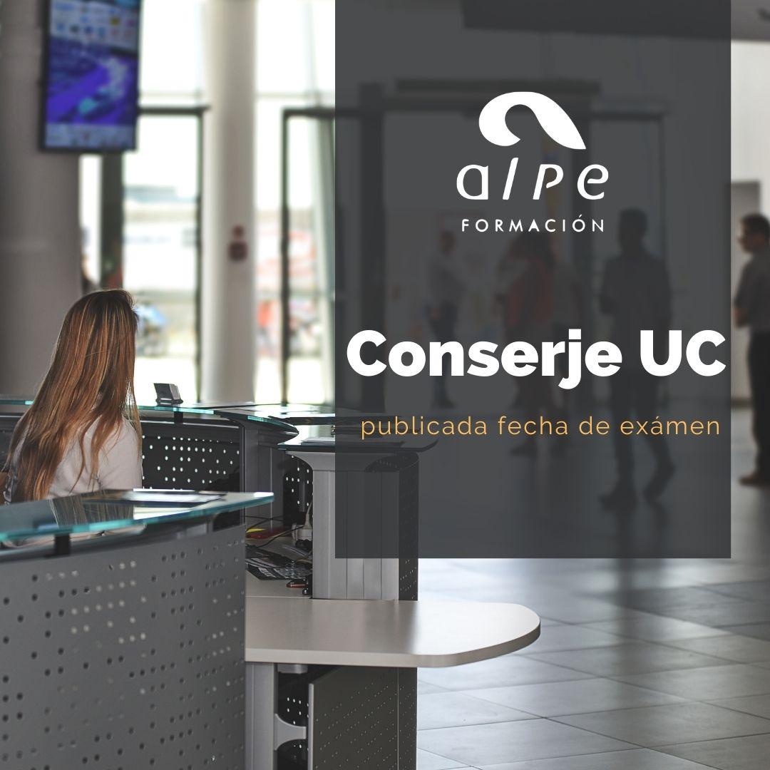 Fecha de examen para Conserje UC