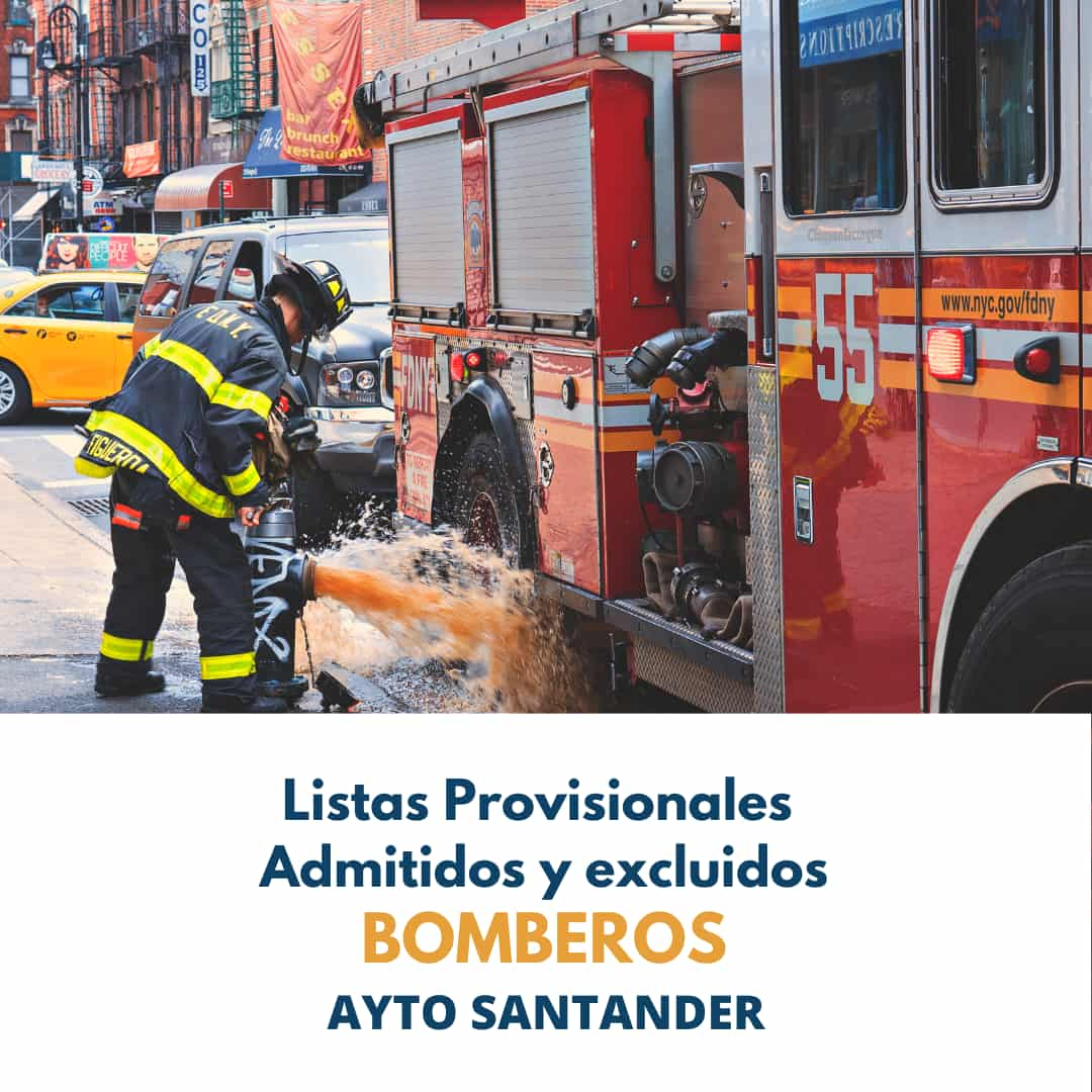 Lista provisional Bomberos Ayto Santander