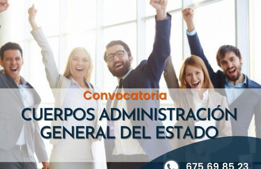 Convocatoria Cuerpos de la administración general del Estado. Alpe formación