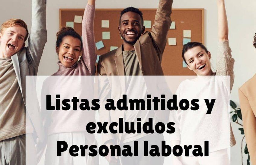 Listas admitidos y excluidos Personal Laboral. Alpe Formación