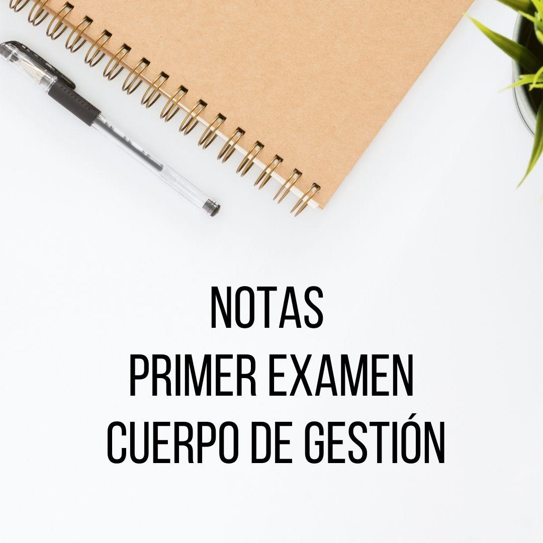 Notas 1er examen Cuerpo de Gestión