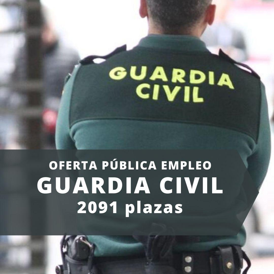 Oferta pública empleo Guardia Civil 2021