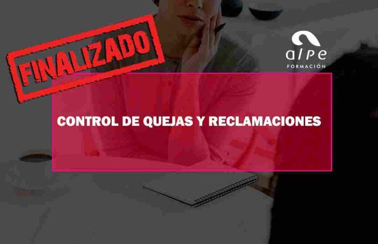 CURSO CONTROL DE QUEJAS Y RECLAMACIONES. Oposiciones y Cursos activos Cantabria
