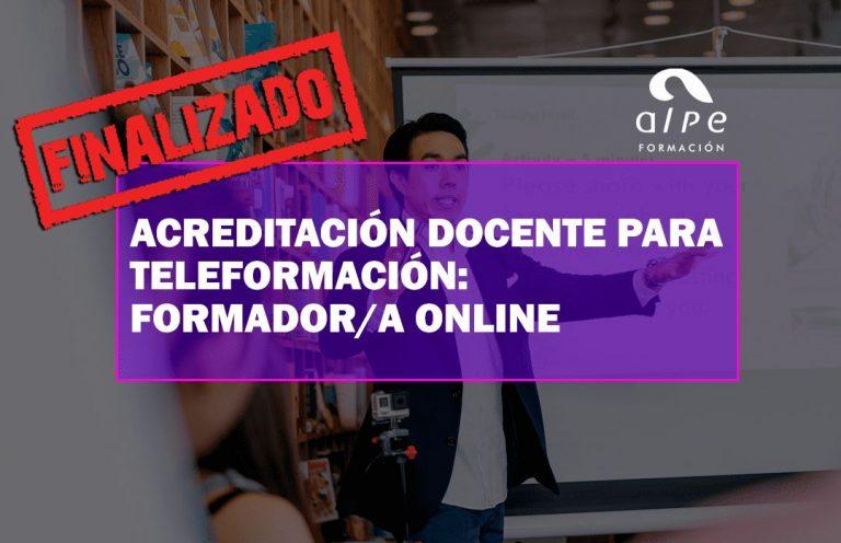 ACREDITACIÓN DOCENTE PARA TELEFORMACIÓN. Oposiciones y Cursos activos Cantabria