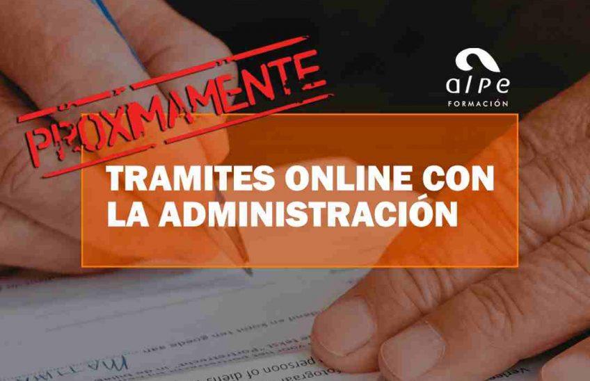 CURSO TRAMITES ONLINE CON LA ADMINISTRACIÓN. Oposiciones y Cursos activos Cantabria