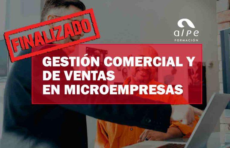 CURSO GESTIÓN COMERCIAL Y DE VENTAS EN MICROEMPRESAS. Oposiciones y Cursos activos Cantabria