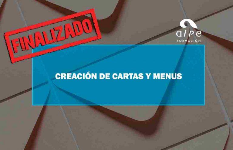 CREACIÓN DE CARTAS Y MENÚS. Oposiciones y Cursos activos Cantabria