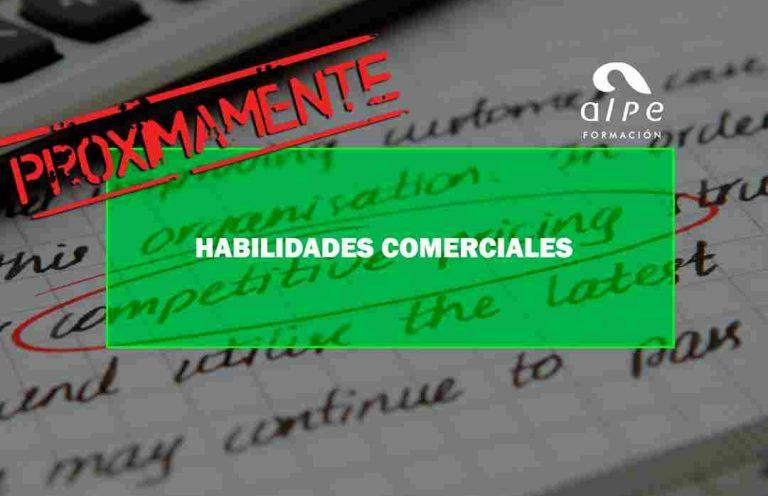 HABILIDADES COMERCIALES. Oposiciones y Cursos activos Cantabria