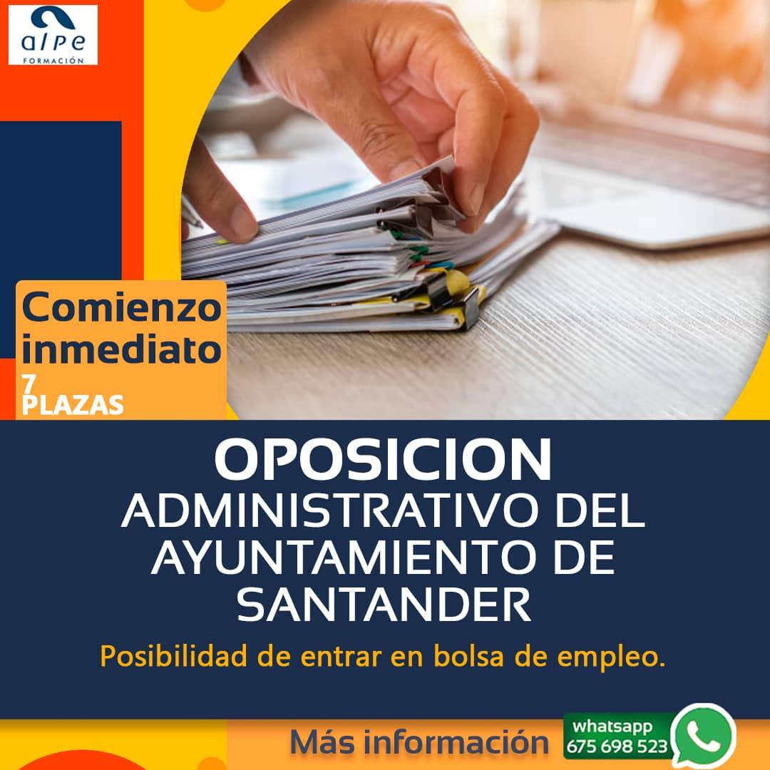 Siete plazas Administrativo Ayuntamiento Santander